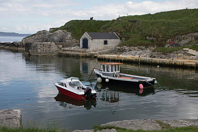 Photograph - Boats In Ballintoy Harbor by Teresa Wilson