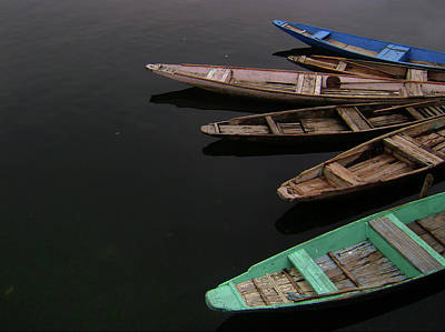 Medium Group Of Objects Photograph - Boats In Dal Lake by Manojaswathi Photography