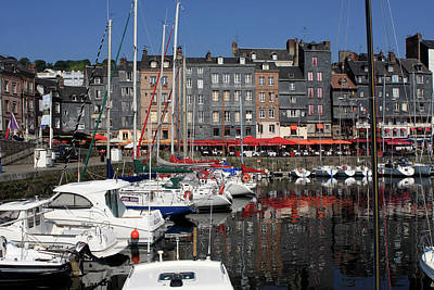 Photograph - Boats In Honfleur Harbour, France by Aidan Moran