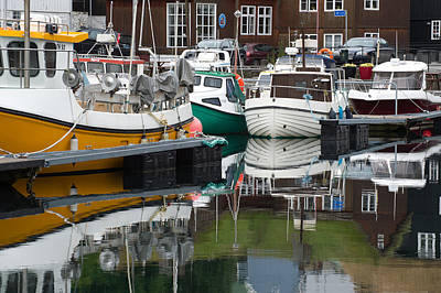 Photograph - Boats In Marina_ Torshavn Faroe Islands_1 by Judith Barath