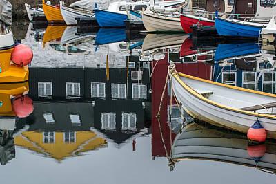 Painting - Boats In Marina, Torshavn, Faroe Islands_2 by Judith Barath