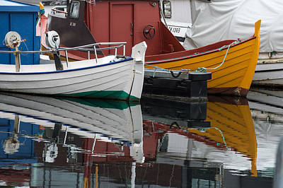 Photograph - Boats In Marina, Torshavn, Faroe Islands_4 by Judith Barath