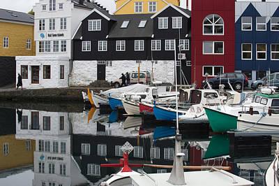 Photograph - Boats In Marina, Torshavn, Faroe Islands_5 by Judith Barath