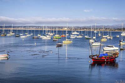 Colorful Monterey Bay Art Print
