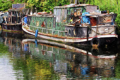 Photograph - Boats In Need Of Restoration by Gill Billington
