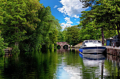 Photograph - Boats In Norwich by Meirion Matthias