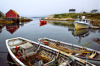 Photograph - Boats In Peggys Cove by Carolyn Derstine
