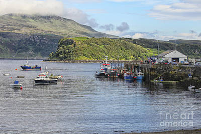Photograph - Boats In Portree Harbor On Skye Island by Patricia Hofmeester