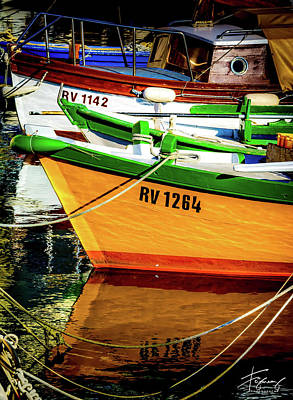 Photograph - Boats In Rovinj by Francisco Gomez