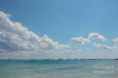 Photograph - Boats In Shades Of Blue by Cheryl Baxter