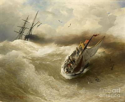 Keith Richards - Boats In Stormy Sea by MotionAge Designs