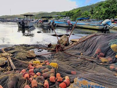 Photograph -  Boats In The Bay by Nadia Sanowar