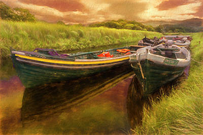 Photograph - Boats In The Country Evening by Debra and Dave Vanderlaan
