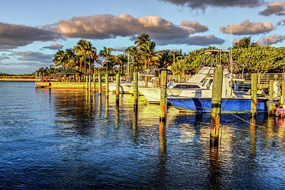 Photograph - Boats In The Evening Sunshine by Debra and Dave Vanderlaan