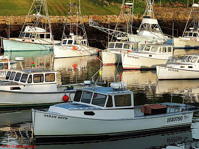 New England Photograph - Boats In The Harbor At Dawn by Bill Dussault
