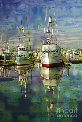 Boats In The Harbor Art Print by Ronald Hoggard