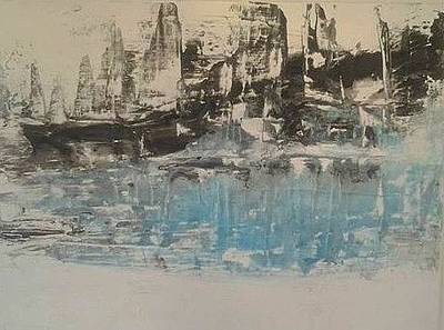 Painting - Boats In The Harbour by Joy Fahey