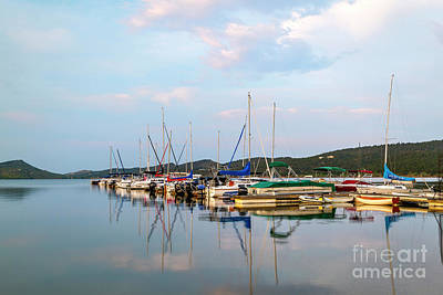 Photograph - Boats In The Marina by Ronda Kimbrow