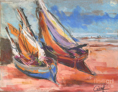Painting - Boats In The Shore by Debora Cardaci