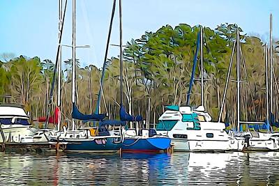 Photograph - Boats In The Water by Charlie and Norma Brock