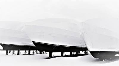 Photograph - Boats In The Winter by Cristina Stefan