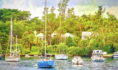 Photograph - Boats In Waiting by Alice Gipson