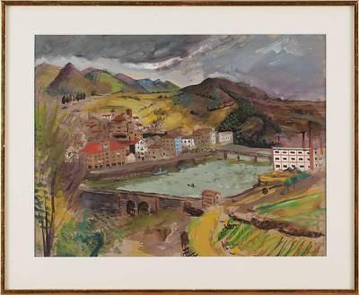 Pasta Al Dente - Boats, Isaac Grunewald, 1889-1946 impressionist by Isaac Grunewald