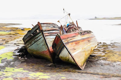 Boats Isle Of Mull 5 Art Print by Tom and Pat Cory