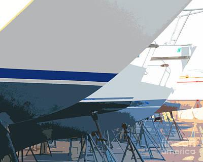 Digital Art - Boats by Joseph Re