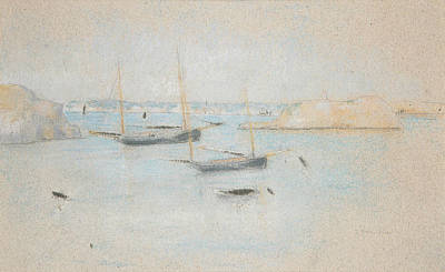 Impressionism Drawing - Boats by Julian Alden Weir