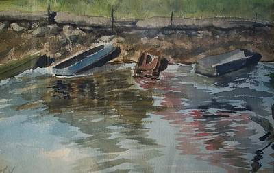 Boats Art Print by Karen Thompson