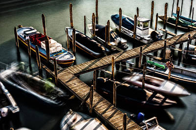 Photograph - Venice Grand Canal Boats by M G Whittingham