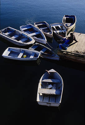 Keith Richards - Boats moored at Dock by Steve Somerville