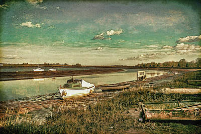 Digital Art - Boats Moored On The River Blackwater,maldon,essex    by Andrew David Photography