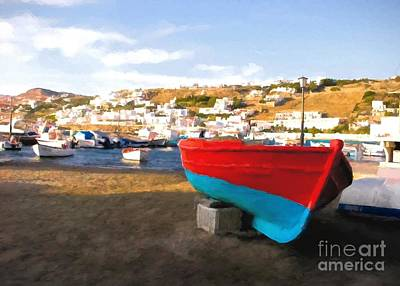 Photograph - Boats Of Mykonos by Mel Steinhauer