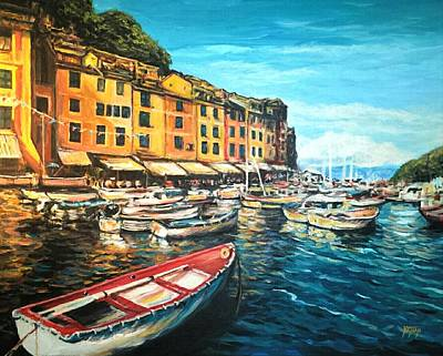 Boats Of Portofino  Art Print by Nathan Lewis