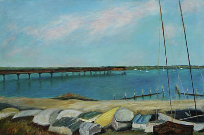 Painting - Boats Of Salt Run Too by Patty Weeks
