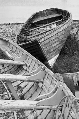 Boats On Beach - Greystones Harbour Art Print by Gary Rowe