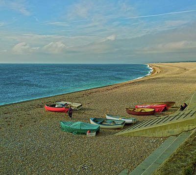 Photograph - Boats On Chesil Beach by Anne Kotan