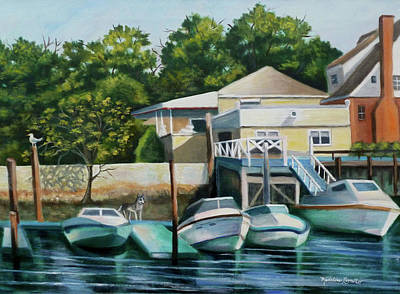 Painting - Boats On Crossbay Blvd. by Madeline Lovallo