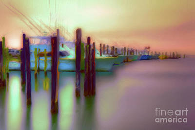 Painting - Boats On Glass II - Outer Banks Ap by Dan Carmichael