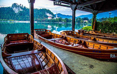 Photograph - Boats On Lake Bled In Slovenia by Lev Kaytsner