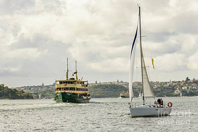Photograph - Boats On Sydney Harbour 01 by Werner Padarin
