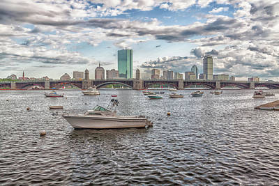 Photograph - Boats On The Charles River In Front  Of The Boston Skyline by Brian MacLean