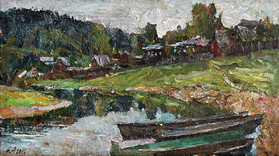 Painting - Boats On The Chusovaya River by Juliya Zhukova