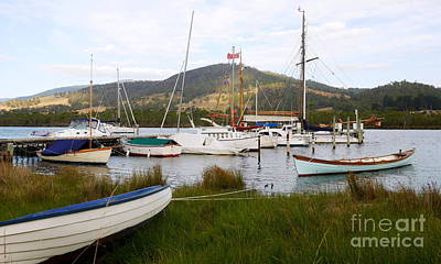 Photograph - Boats On The Huon River 2 by Lexa Harpell
