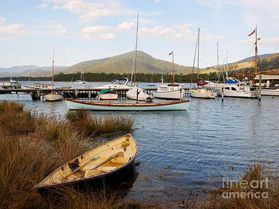 Photograph - Boats On The Huon River by Lexa Harpell