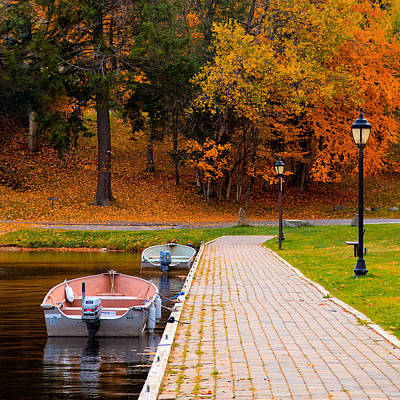 Corporate Photograph - Boats On The Pond by David Patterson