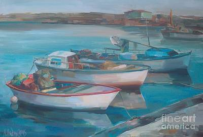 Painting - Boats On The Port by Angelina Nedin