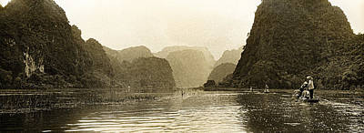 Photograph - Boats On The River Tam Coc No2 by Weston Westmoreland